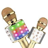 4tunate カラオケマイク ワイヤレスマイク 高音質 ポータブルスピーカー 無線マイク ワイヤレス Bluetooth ノイズキャンセリング (yellow)