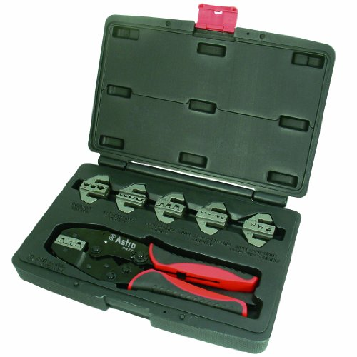 Astro Pneumatic Tool 9477 7-Piece Professional Quick Interchangeable Ratchet Crimping Tool Set
