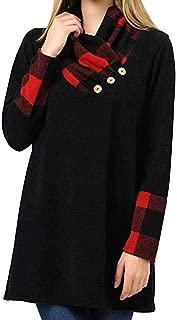 ZUong2 Women's Shawl Collar Pullover Sweatshirt Casual Long Sleeve Button Cowl Neck Tunic Tops for Leggings