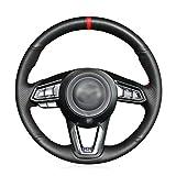 MEWANT - Funda de piel sintética para volante de coche...
