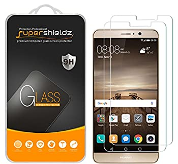 2 Pack  Supershieldz Designed for Huawei Mate 9 Tempered Glass Screen Protector Anti Scratch Bubble Free