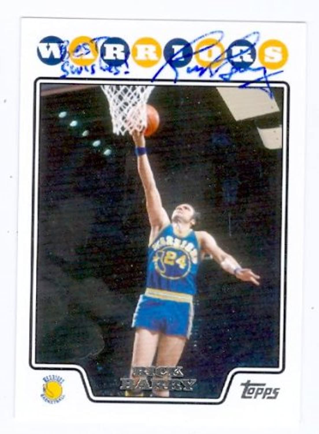 Rick Barry autographed Basketball Card (golden State Warriors) 2008 Topps  181  Autographed Basketball Cards