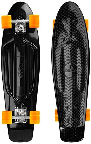 "Ridge Recycled 27\"" Cruiser Skateboard, Schwarz/Orange, Zoll"