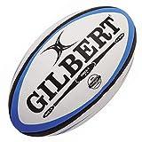 Gilbert Omega - Ballon de Match de Rugby Bleu/Noir - taille Size 5