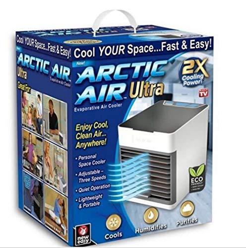 YQ Arctic Air Cooler X2 3 en 1 pour refroidissement et humidification et purification de lair, connexion USB facile à transporter, éclairage nocturne 7 couleurs, adapté pour la maison,