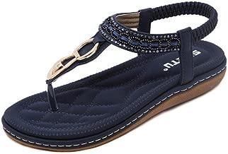 Sandals for Womens, FORUU Summer Ladies Bohemia Beach Flip Flops Shoes Clip Toe