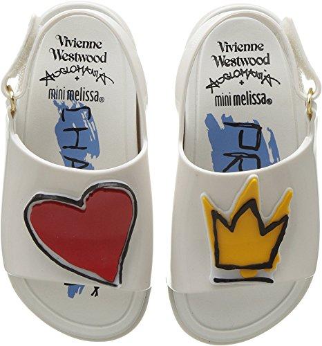 Vivienne Westwood Baby Girl's Mini Anglomania + Melissa Beach Slide Sandal (Toddler) White 5 M US Toddler