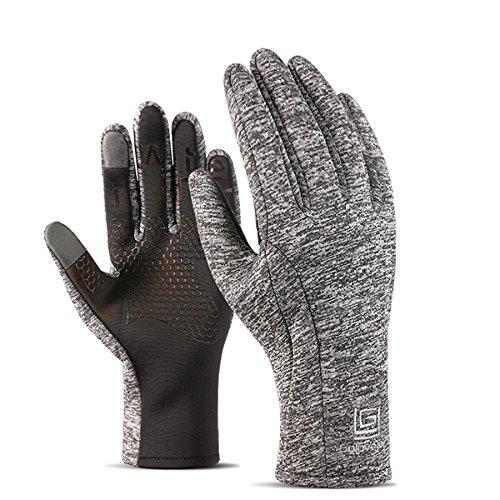 Preisvergleich Produktbild LaDicha Unisex Warm Touch Screen Fleece Handschuhe No-Slip Radfahren Skifahren Sport Outdoor Winddicht Handschuhe - Grau - M