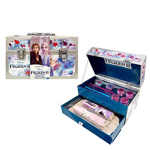 FROZEN II metalen koffer knutselkoffer kleur set (Cife Spain 41851)