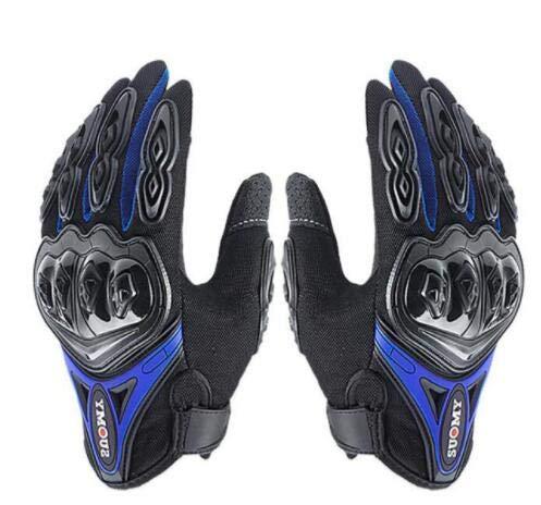Bruce Dillon Guantes de Moto Guantes de Moto de Invierno Impermeables a Prueba de Viento para Hombre Guantes de Moto con Pantalla táctil -Azul X XXL