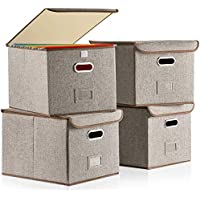 4-Pack Lesteco Collapsible File Box with Lid (Grey)