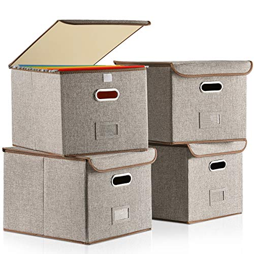 (70% OFF Coupon) Collapsible File Box W/ Lid 4-Pk $18.00