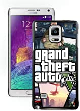 Samsung Galaxy Note 4 Grand Theft Auto V 1 Black Shell Cover Case,Luxury Look