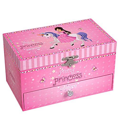 SONGMICS - Scatola carillon con ballerina, piccola scatola per gioielli