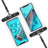 YOSH Funda Impermeable Móvil IPX8 2 Unidades, TPU Bolsa para Móvil Estanca a Prueba de Agua para iPhone 12 Pro MAX 11 XR X Galaxy Note 20 S20 Ultra Xiaomi Poco X Huawei Mate40 Pro hasta 7.5''