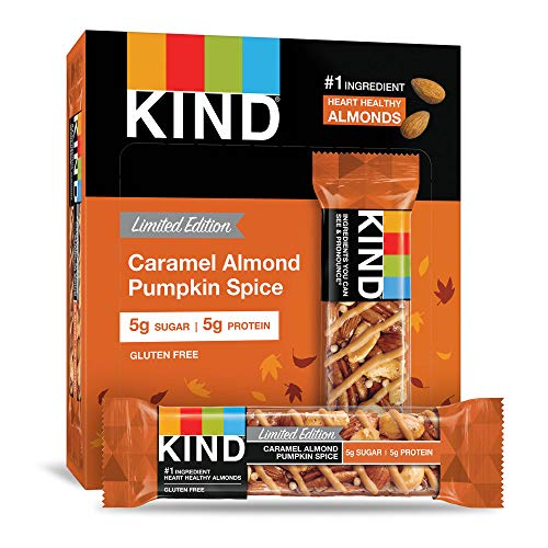KIND Bar, Caramel Almond Pumpkin Spice, Gluten Free, 1.4oz, 12 Count