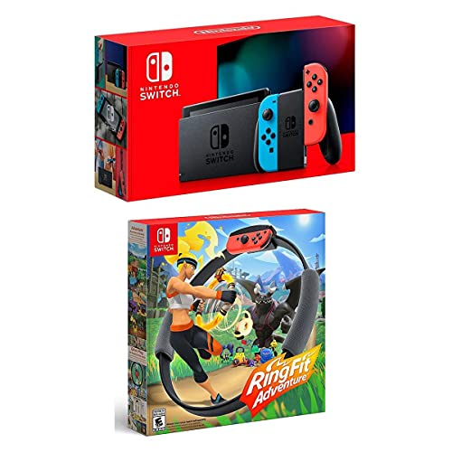 Nintendo 32GB Nintendo Switch with Neon Blue & Neon Red Joy-Con Controllers...
