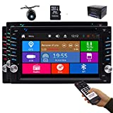 EinCar 2 Din Car Stereo Bluetooth Backup Camera System in Dash Car Radio GPS Navigation Head Unit 6.2 inch Capacitive Touchscreen FM/AM Audio Car DVD Player 3 Types of UIs Free Remote Double Din