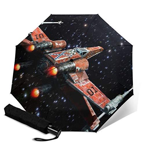 Paraguas plegable de viaje de Star Wars de tres pliegues, portátil, resistente...