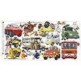 Bilderwelten Wandtattoo - Feuerwehrmann Sam - Mega Set 22-teilig, 40cm x 80cm