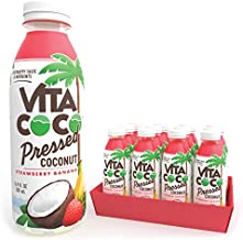 Vita Coco Coconut Water, Pressed Coconut Strawberry Banana | Impossible To Hate | Smooth, Refreshing Coconut Taste | Naturally Hydrating | Gluten Free | 16.9 Oz Slim Bottle (Pack Of 12)