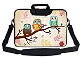Meffort Inc Neoprene Laptop Shoulder Briefcase Bag Carry Case Handbag for 11.6 12 inch MacBook Notebook Computer - Three Owls