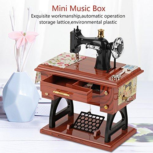 Caja de música, caja de música mecánica, caja de costura de música, movimiento Mini para decoración del hogar para niños recuerdo