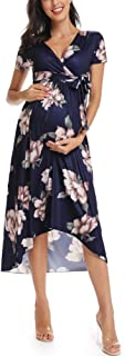 Liu & Qu Women's Casual Floral Maxi Dress Waist Tie V...
