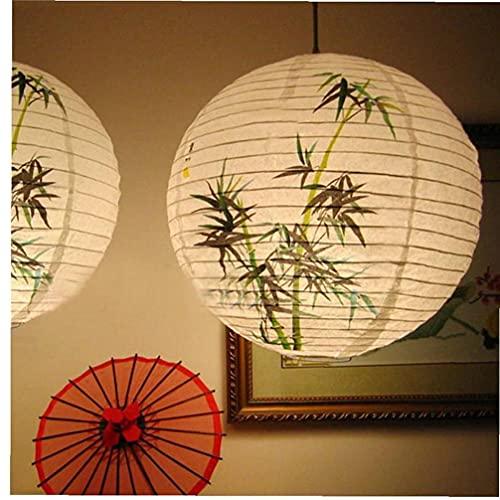 2 Stücke 35cm Papierlaternen Runder Papier Lampenschirm Für Party Dekorationen