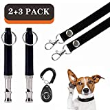 Z Dog Whistle clicker 【2 Whistle and 2 Lanyard and 1 clicker】 Stop Barking, Mute Training Tool, Adjustable Ultrasound Dog Training kit