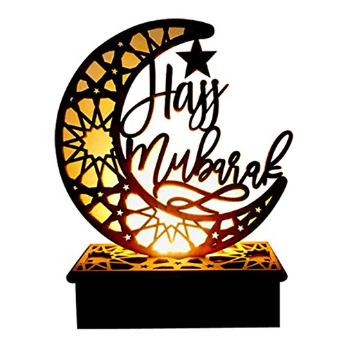 S/J Eid Mubarak Luz De Decoración LED Luna Estrella Islam Luces Colgantes Decoración Adorno De Bricolaje Regalo para Niños, para Musulmanes Eid Al-Fitr, Reuniones Familiares, Decoración del Hogar