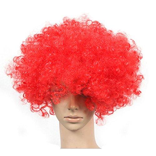 Lot de 2 Halloween Costume Party Clown Perruques cheveux, gros Rouge