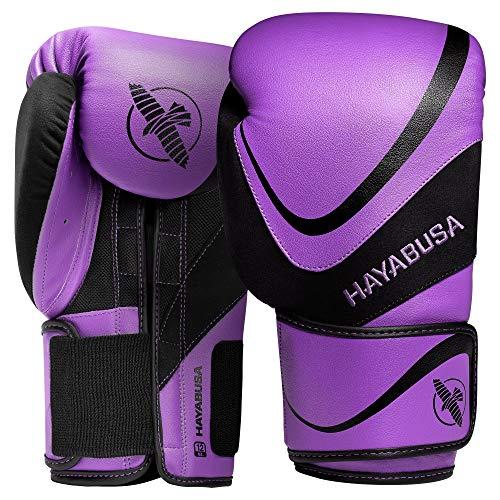 Hayabusa H5 Boxing Gloves for Men and Women - Purple/Black, 16 oz
