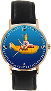 THE BEATLES Yellow Submarine Custom New Fashion Leather Band Unisex Wrist Watch YouGem Design Gift