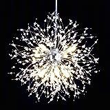 ANJULL Modern Crystal Firework Chandeliers, 8 Lights Chrome Dandelion Sputnik Pendant Light,Contemporary Globe Hanging Light Fixture for Dining Room Living Room Kitchen Island Bedroom.G9 Bulb.