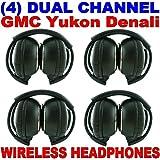 4 New GM GMC Yukon Denali Wireless Dual Channel DVD Premium Car Headphones