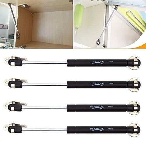 DerBlue 4 Pcs 100N/22.5lb Gas Strut Lift Support Cabinet Door Lift Pneumatic Support