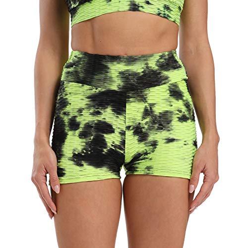 NIGHTMARE Pantalones Pantalones de Cintura Alta para Mujer Pantalones de Yoga Florales Pantalones de salón Holgados Entrenamiento Correr Estiramiento M