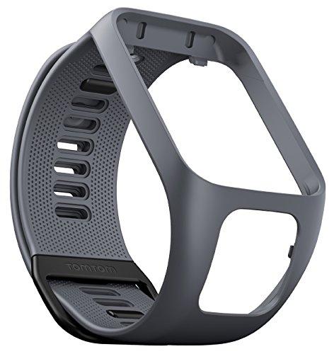 Preisvergleich Produktbild TomTom Wechselarmband für TomTom Spark 3 / Spark / Runner 3 / Runner 2 GPS-Uhren,  Grau,  Größe L