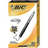 BIC Velocity Retractable Ball Pen, Medium Point (1.0mm), Black, 36-Count
