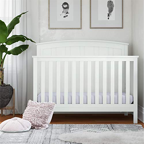 Purchase Baby Relax Colton 5 in 1 Convertible Wood Crib with Toddler Bed Conversion, White