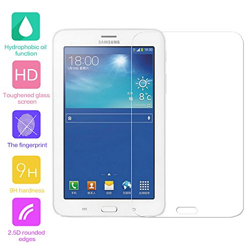 fenrad® 9H Hartglas Panzerglas Glas Folie Schutzfolie Schutzglas Panzerfolie Bildschirmschutzfolie Bildschirmschutz für Samsung Galaxy Tab 3 Lite 7.0 T110 T111