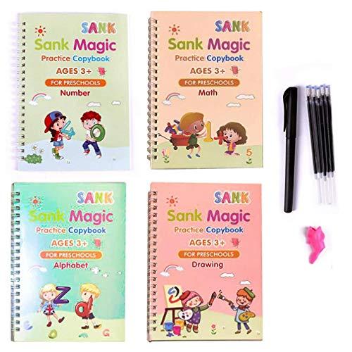 Hanone Práctico Libro de rastreo Digital para niños en Edad Preescolar, Cuaderno para niños de abolladuras, Multicolor B