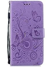 Lomogo Galaxy S10+ / docomo SC-04L SC-05L / au SCV42 ケース 手帳型 耐衝撃 レザーケース 財布型 カードポケット スタンド機能 マグネット式 ギャラクシーS10プラス 手帳型ケース カバー 人気 - LOXCH030304 紫