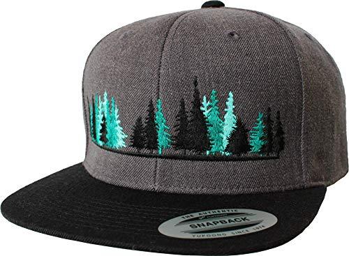Outdoor Cap: Woodlands - Flexfit Snapback - Berg-steigen Klettern Bouldern Sport Wandern Camping Natur - Streetwear Basecap - Geschenk Männer Mann Frau-en - Baseball-Cap Mütze Kappe (One Size Grey)