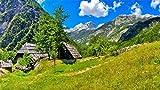 Rompecabezas De 1000 Piezas Eslovenia Bovec Paisaje Montañas Hierba Ensamblaje De Madera Decoración Para El Hogar Juego De Juguete Regalo Juguete Educativo Para Niños Y Adultos