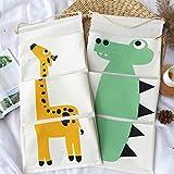 kiwill organizer per armadio a muro con custodia in tessuto di cotone con tasche organizer per armadio impermeabile, 2 pz (giraffa+dinosauro)