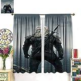 Petpany The Witcher 3 Wild Hunt Hunting Geralt Game Cortinas opacas de 183 x 160 cm, cortinas oscuras en la habitación aislada de la sala de estar. Apto para dormitorio