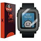 Skinomi Screen Protector Compatible with Pebble Time (6-Pack) Clear TechSkin TPU Anti-Bubble HD Film