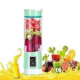 ZGYQGOO Mini Mixer, tragbarer persoumlnlicher elektrischer Handmixer, schnurloses USB wiederaufladbar, fuumlr Smoothie-Babynahrung Milchfrucht-Reisebuumlro, 500 ml Wasserflasche